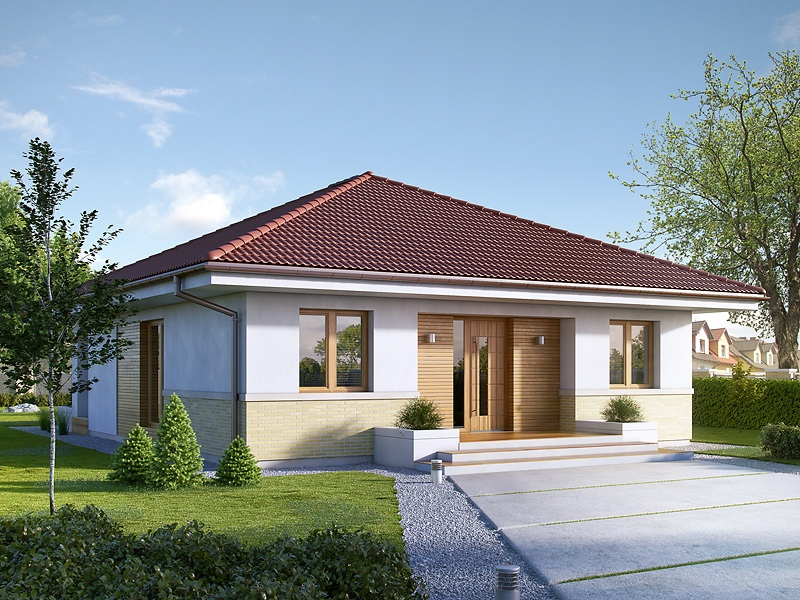 Enthralling Modern Bungalow House With Traditional Accent
