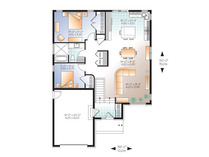 Picture of Refined Two Bedroom Modern House Plan