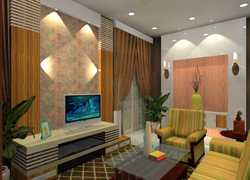 Picture of Lovely Interior Design of One Story Modern House
