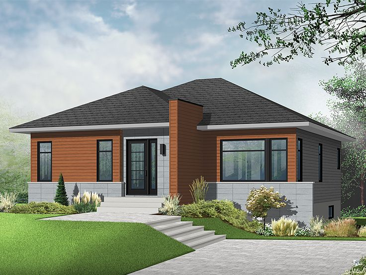 Picture of Fascinating One Story Contemporary House Plan