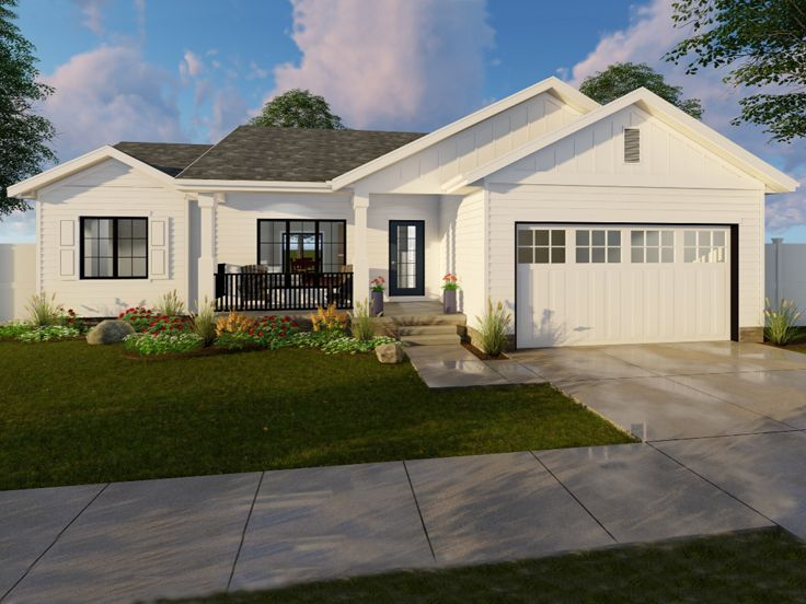 Picture of Desirable Ranch Home Plan with Traditional Flair
