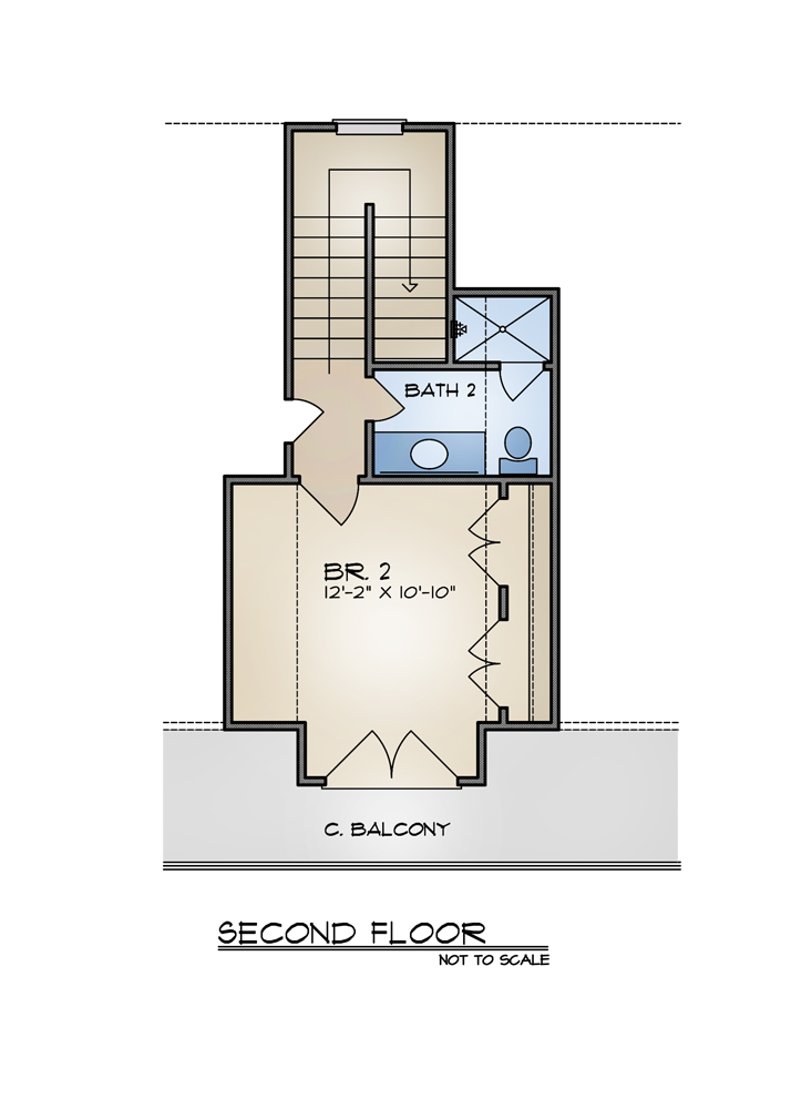 Picture of Pleasant Two Bedroom Cottage Home Plan