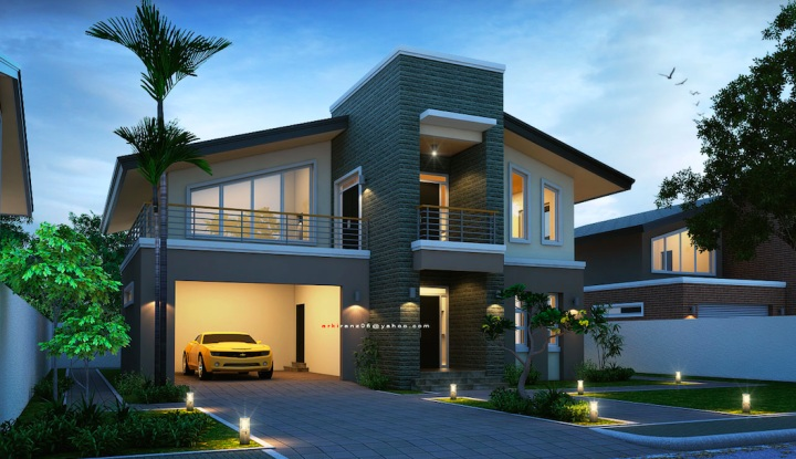 Picture of Dramatic Two Story House Interior Design