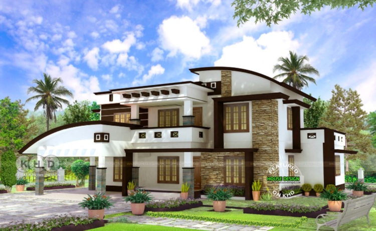 Picture of 4 BHK Contemporary House Plan with Interior Design