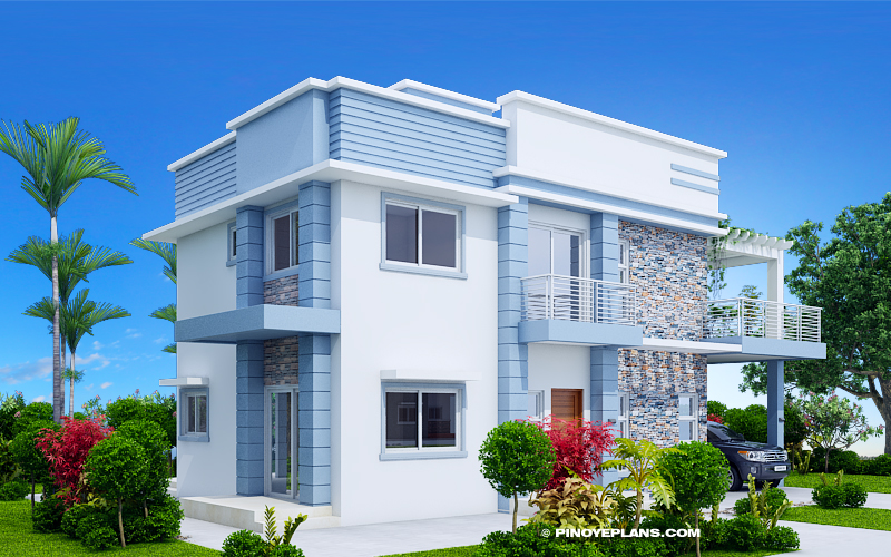 Alfonso Four Bedroom 2 Storey Cool House Plan Pinoy House