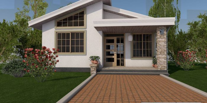 Picture of Affordable One Bedroom Simple House Design