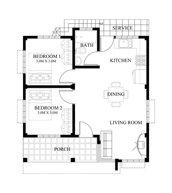 Extremely Gorgeous 2 Bedroom House Plans Pinoy House Designs