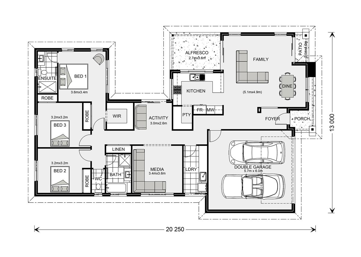 Picture of Stunning Single Story Contemporary House Plan