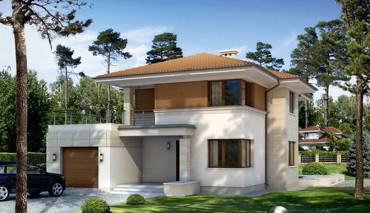 Picture of Wonderful Contemporary Two Story House Plan