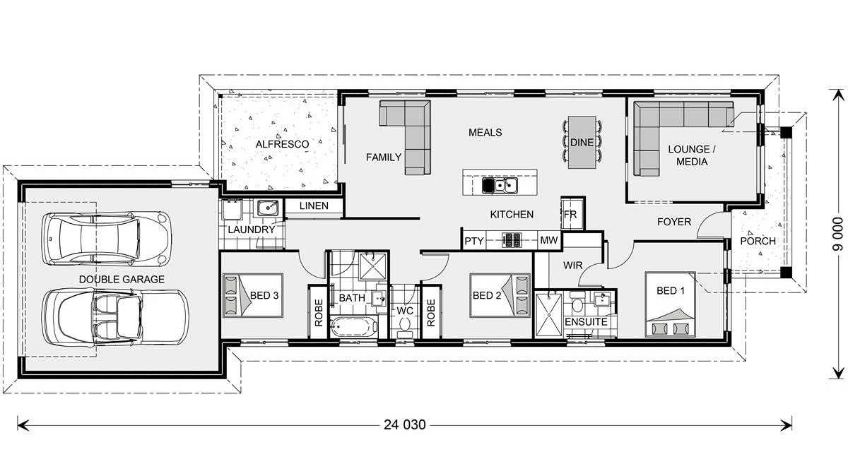 Picture of Stylish Modern Narrow Lot House Plan