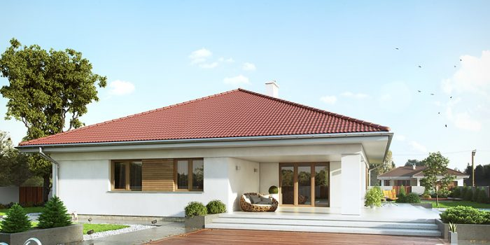 Picture of Energy Efficient Modern Bungalow House Design