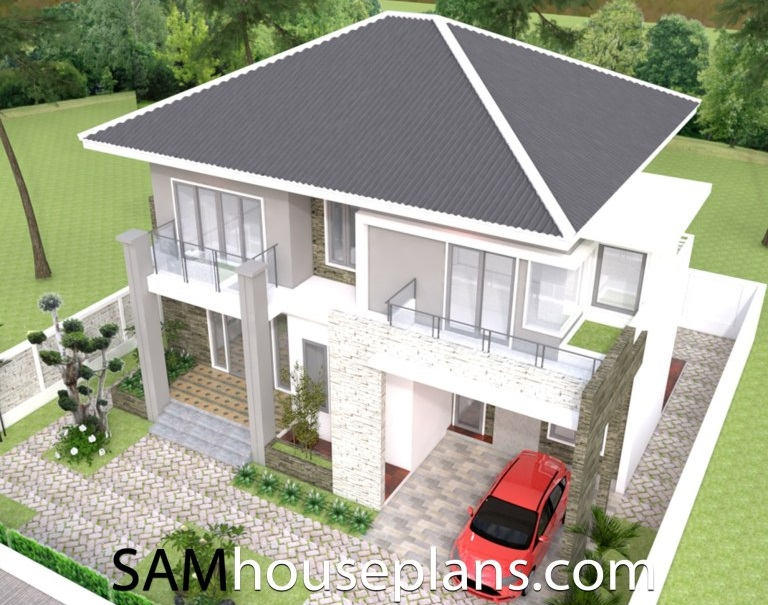Picture of Contemporary Home Design of 2 Storey Residence