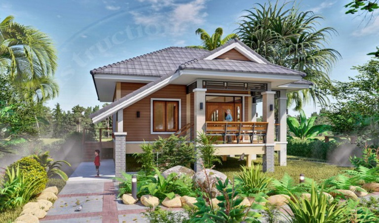 Picture of Vacation Home Plan in Stylish Tropical House