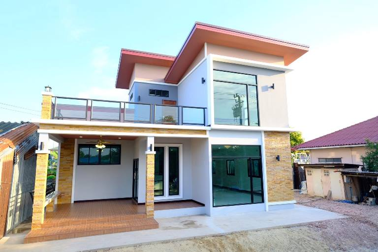 Picture of Modern Two-Storey House Plan & Interior Designs