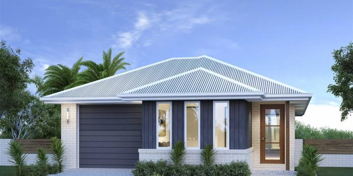 Picture of Modern Narrow House Plan with Front Garage