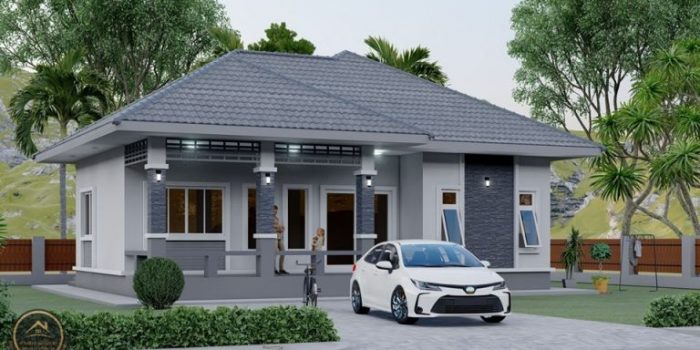 Picture of Prominent One Storey House Plan with 3 bedrooms