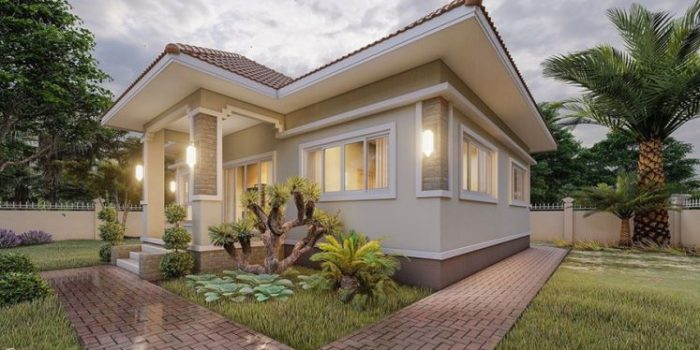Picture of Contemporary Style Home with Spacious Garden