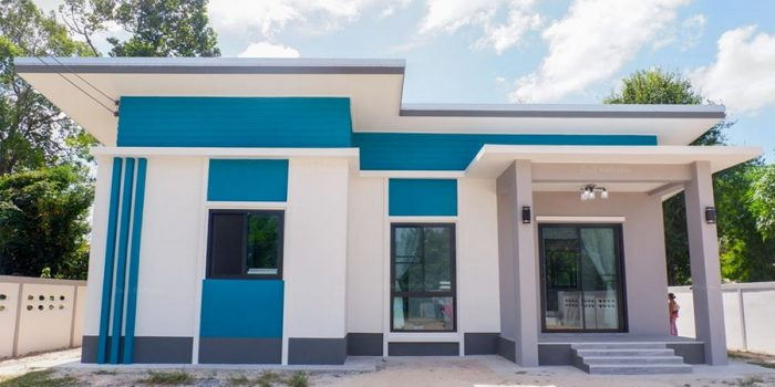 Picture of Beautiful House Design in a Blend of White & Blue