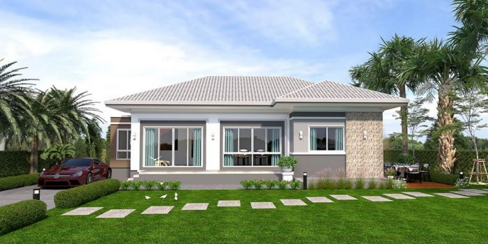 Picture of Refined Three Bedroom Contemporary House Plan