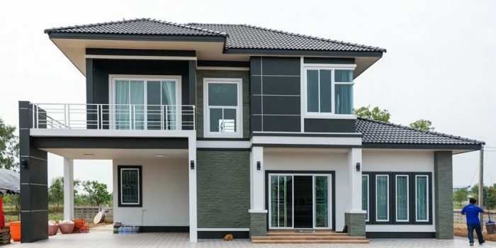 Picture of Contemporary Style House Plan of 4 Bedrooms