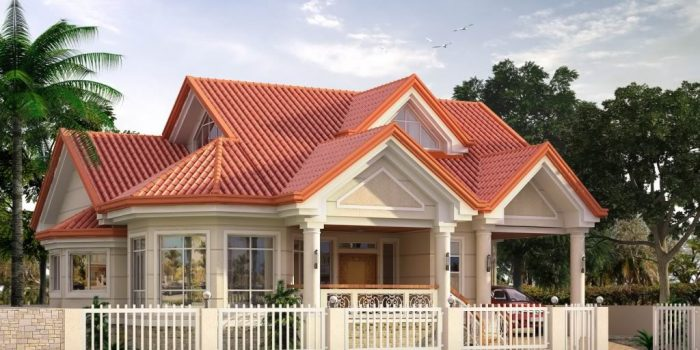 Picture of Modern Bungalow House Plan with Attic