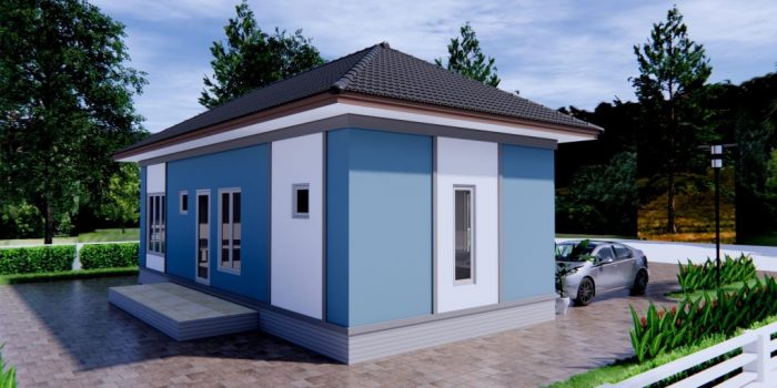 Picture of Single Storey Modern House with 3 Bedrooms