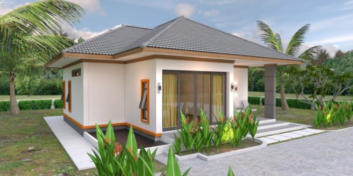 Picture of Single Storey House Design with 2 Bedrooms