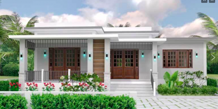 Picture of Modern Three Bedroom House Plan