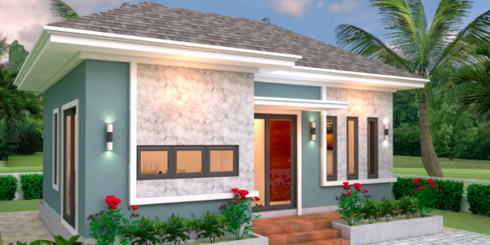 Picture of Single Storey Bungalow House Design