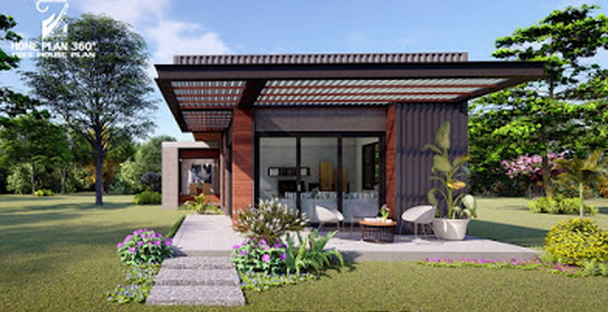 Picture of Modern Narrow House Design with Stylish Exterior