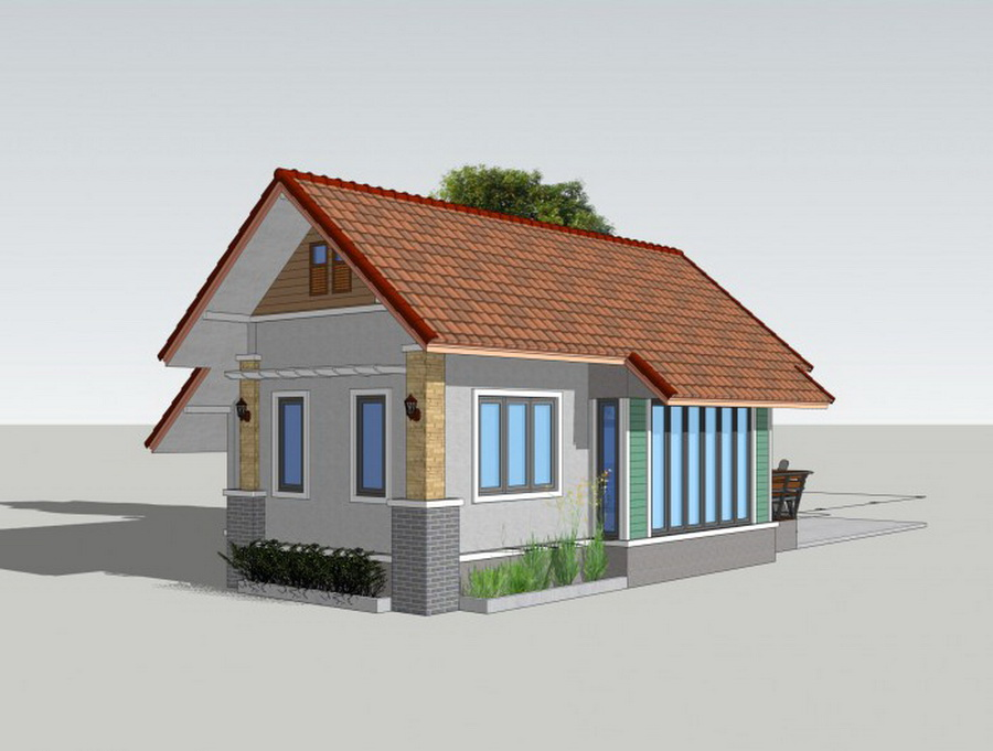 Picture of Small Resort House Design in a Trendy Style
