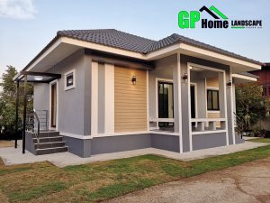 Picture of Elevated Bungalow House Design with Hip Roof