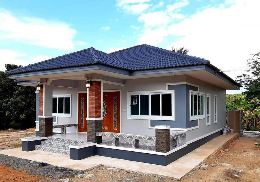 Picture of Contemporary Style House Design with Ingenious Hip Roof