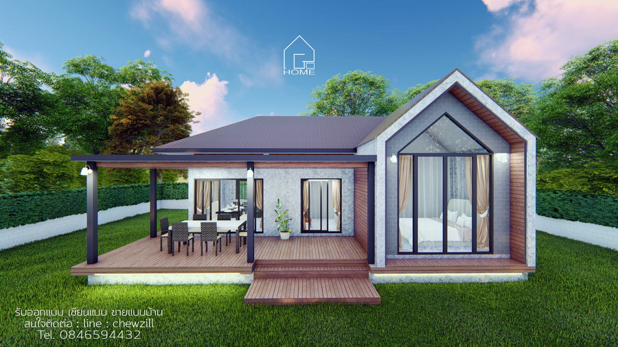 Picture of Scandinavian Modern House Plan with 3 Bedrooms
