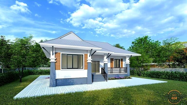 Picture of Simple Contemporary House in Light Blue & White