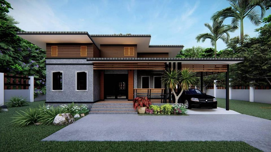 Picture of Compact 3-Bedroom Concept in Trendy Shed Roof