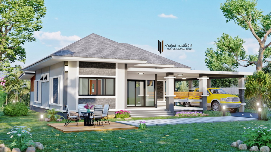 Picture of Three-Bedroom Bungalow House with Sophisticated Theme