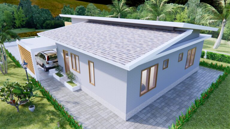 Picture of Contemporary Two-Bedroom House with Dynamic Shed Roof