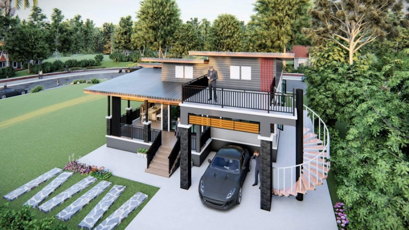 Picture of Single Level Contemporary House with Elegant Exterior Concepts
