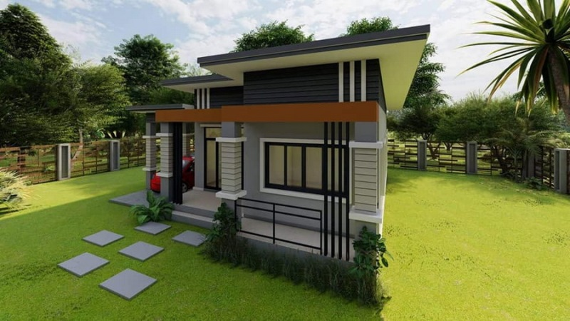Picture of High Ceiling Modern House Plan with 2 Bedrooms