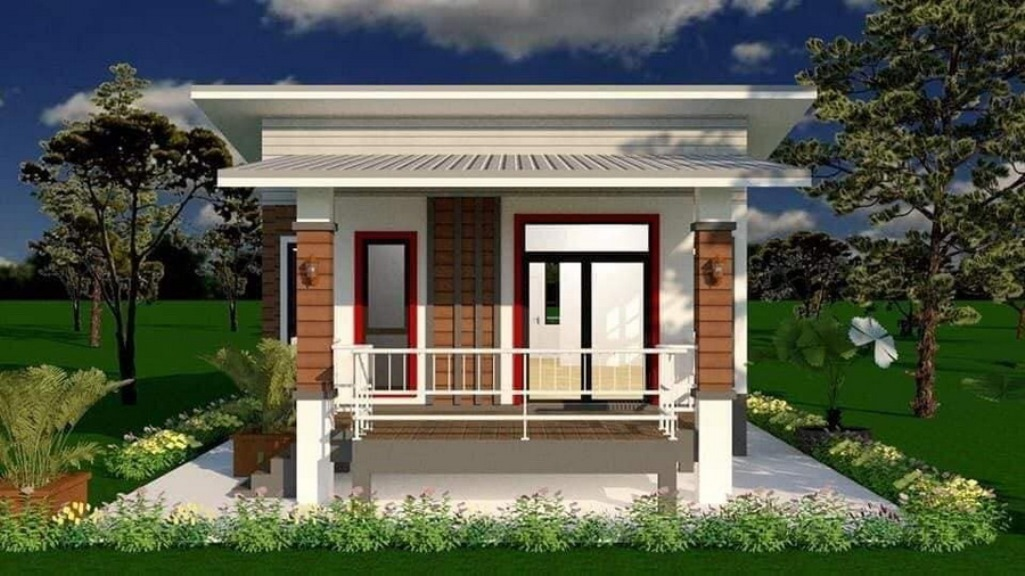 Picture of Lovely Narrow Lot House Plan with Stilt Concept