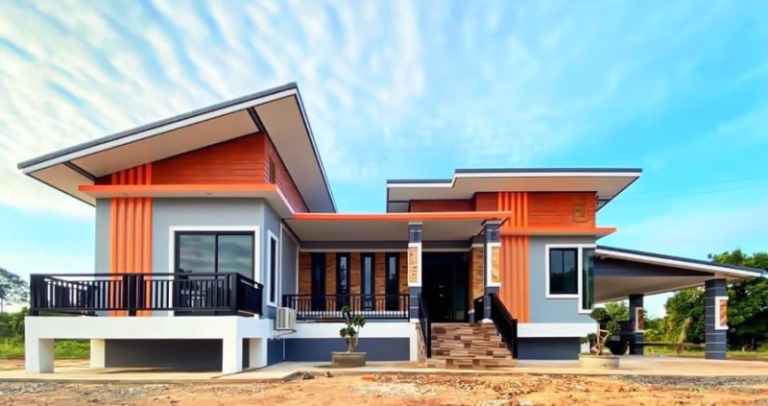 Picture of Elegant House Design with Geometrical Concepts