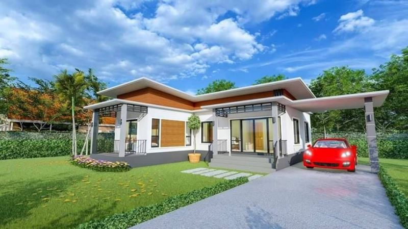 Picture of Modern L-shaped House with Three Bedrooms