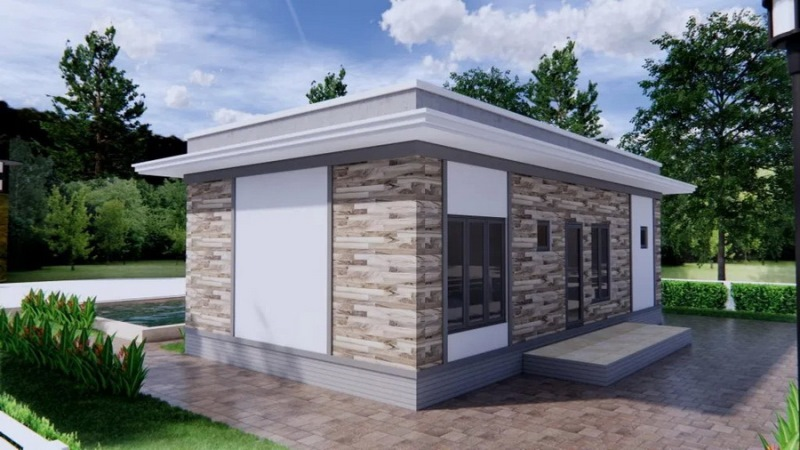 Picture of Small House in a Graceful Modern Style