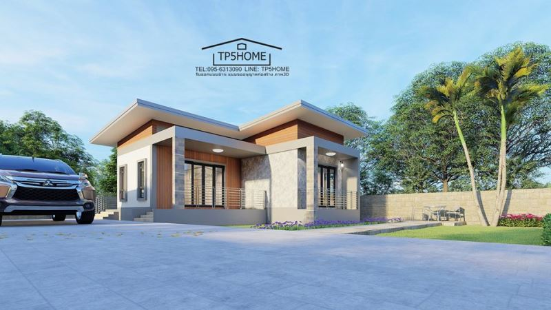 Picture of Affordable House Plan in L-shape Scheme