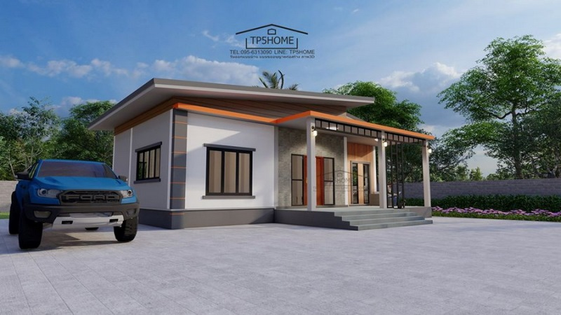 Picture of Simple Farmhouse Design with Wooden Cladding