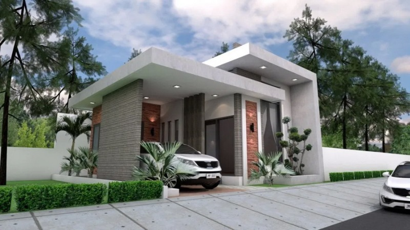 Picture of Small Contemporary House Concept with Two Bedrooms